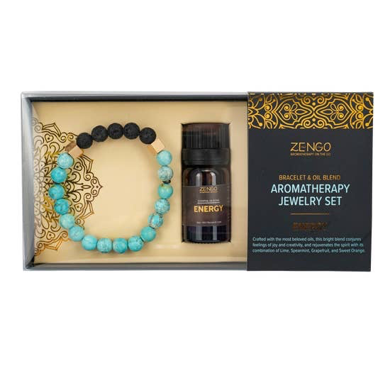BOPS Aromotherapy Turquoise Energy Set