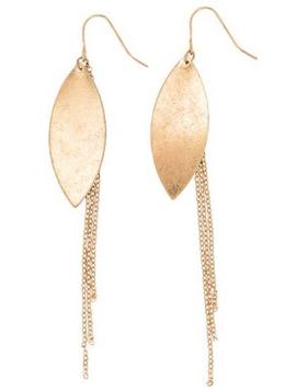 BOPS Leaf and Chain Earring