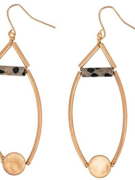 BOPS Gold Drop and Dalmation Earring