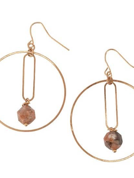 BOPS Gold Hoop and Jasper  Earring