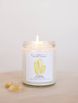 JaxxKelly Citrine Crystal Candle - Success