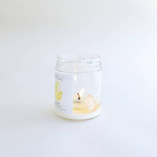 JaxxKelly Citrine Crystal Candle - Success
