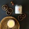 JaxxKelly Peach Quartz Crystal Candle - Inner Peace
