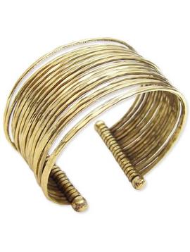 Gold Thin Hammered Bunch Cuff