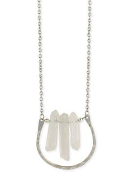 Hammered Horseshoe & Stone Necklace