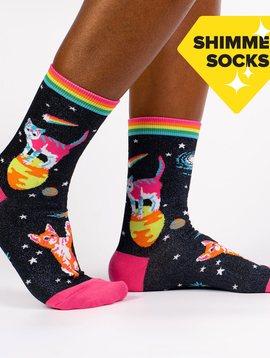 Space Cats Women's Crew Socks