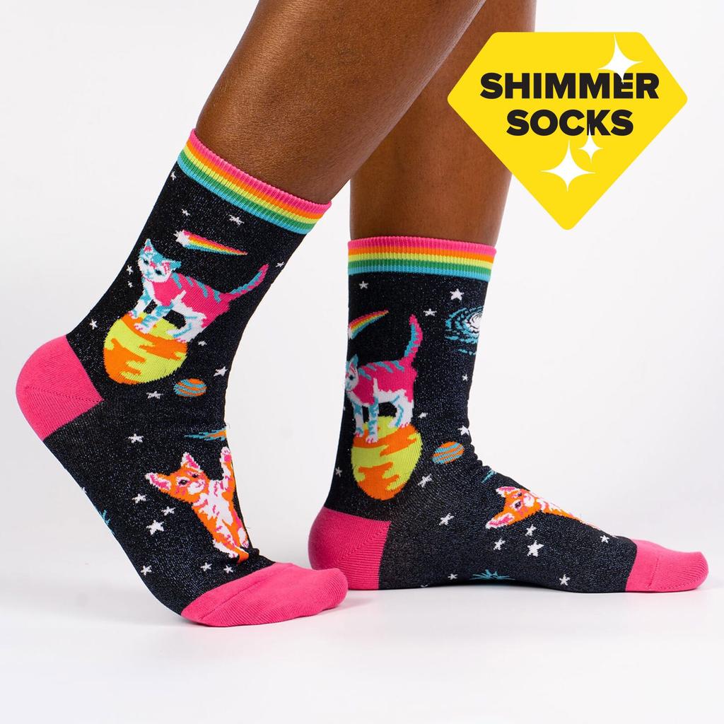 Space Cats Women's Crew Socks