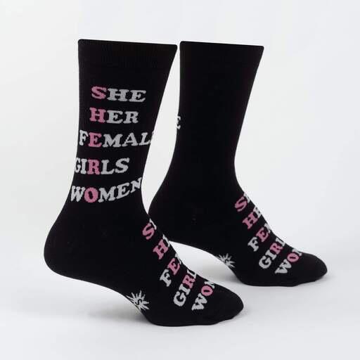 SHERO Women's Crew Socks