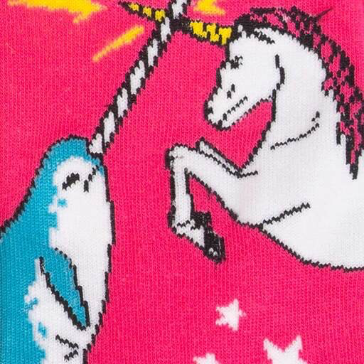 Unicorn vs Narwhal Women's Crew Socks
