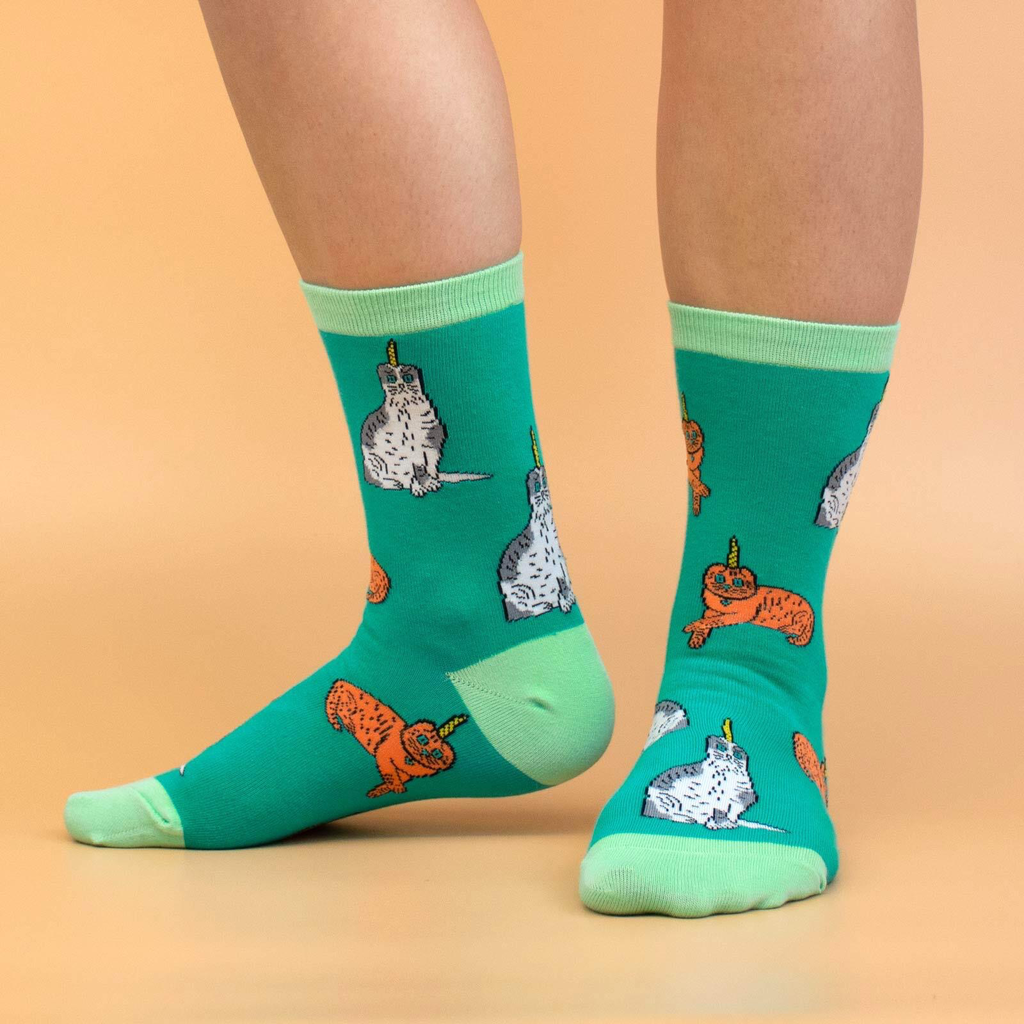 Caticorn Crew Socks