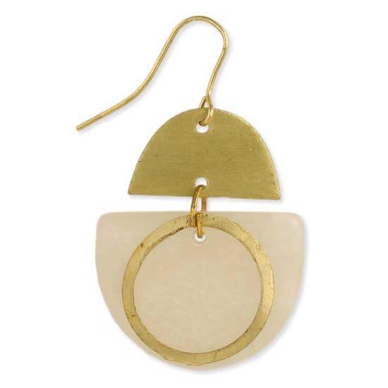 Soft Statements Brushed Gold & Resin Earring