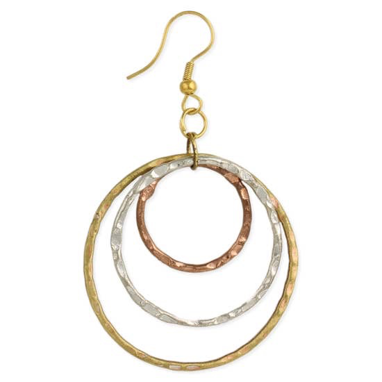 Mix it Up Mixed Metal Round Layer Earring