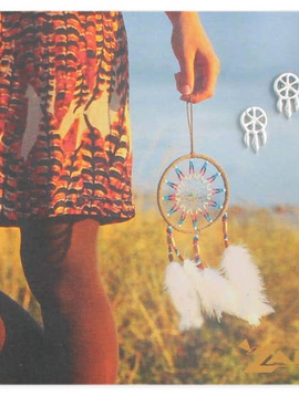 Silver Dreamcatcher Post Earring