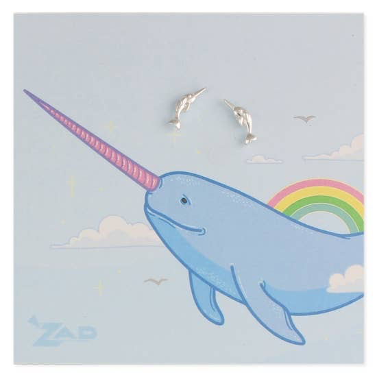 GCBLove Silver Narwhal Post Earrings