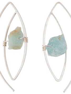 BOPS Silver Hook + Wrapped Jade Stone