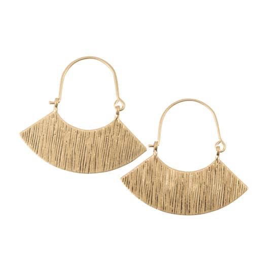 BOPS Gold Fan Earrings