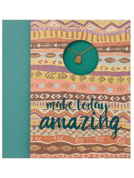 "BOPS ""MAKE TODAY AMAZING""<br /> Card Wtih Necklace"