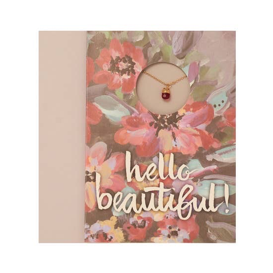"BOPS ""HELLO BEAUTIFUL!""<br /> Card Wtih Necklace"