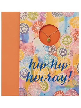 "BOPS ""HIP HIP HOORAY!""<br /> Card Wtih Necklace"