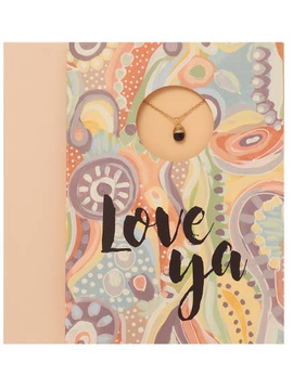 "BOPS ""LOVE YA""<br /> Card Wtih Necklace"