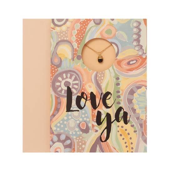"BOPS ""LOVE YA""<br /> Card Wtih Necklace"
