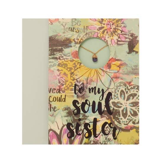 "BOPS ""SOUL SISTER""<br /> Card Wtih Necklace"