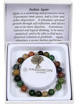 Kaleidoscope Indian Agate Bracelet