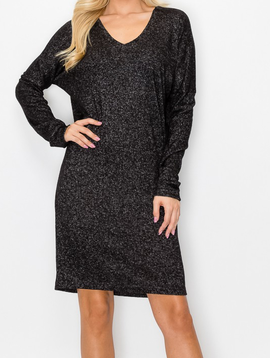 ENTI Marble Black LIghtweight Sweater Dress