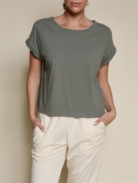 Fabina Recycled Cotton Olive Top