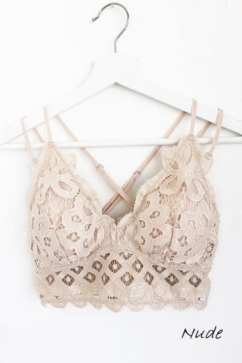 Nude Dainty Crochet Bralette