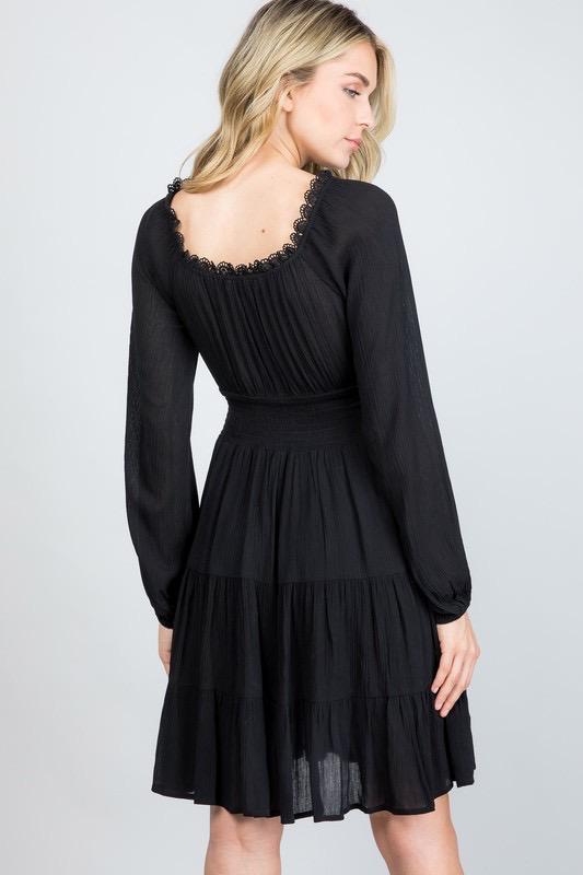 Illa Illa Romantic Black Flare Dress