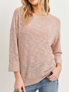 Dusty Pink Flow Top