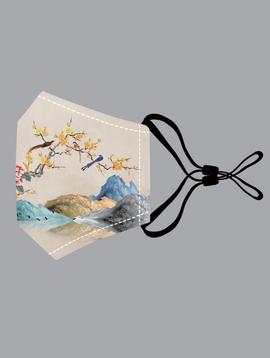 Phoenix & Floral Cotton Mask