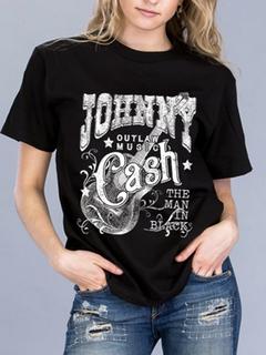 Carmelo Trend Johnny Cash Black Tee