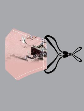 Pink Crane Cotton Mask