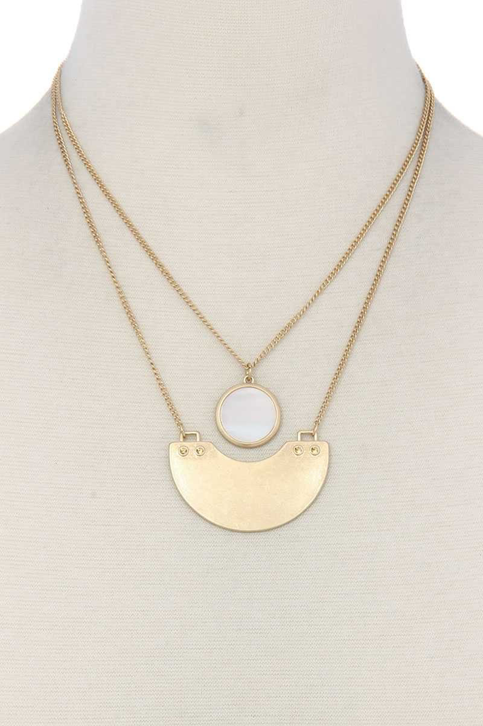 Half Circle Stone Necklace1