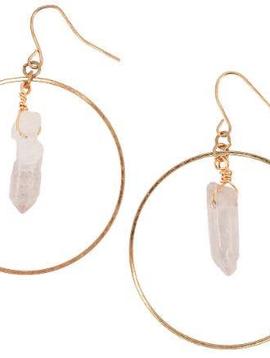 BOPS Gold Hoop + Crystal Earrings