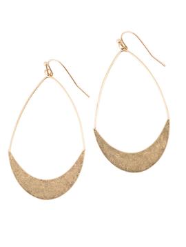 BOPS Gold Flat Drop Earrings