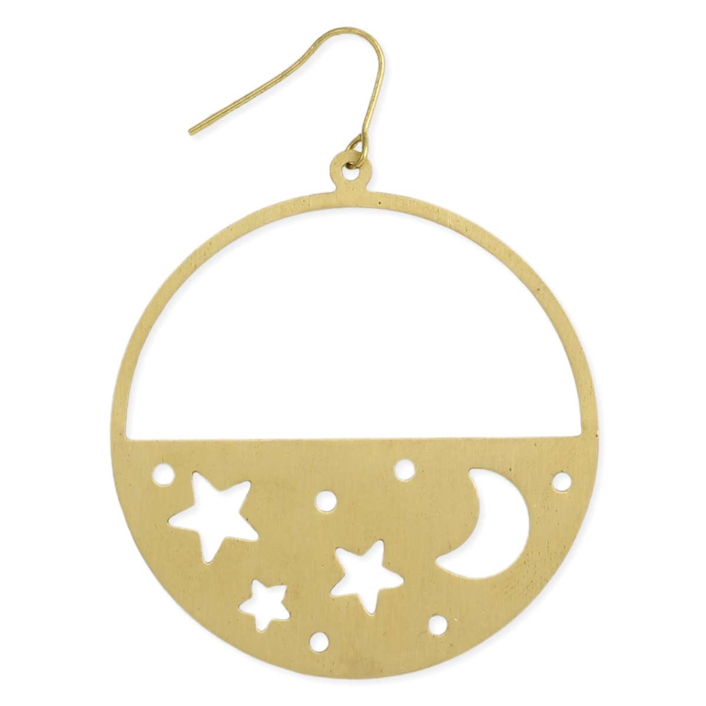 Night SKy Cutout Earring