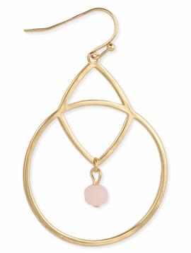 Pretty In Pink Stone Earring