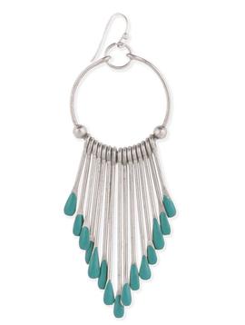 Southwest Turquoise Fan Earring