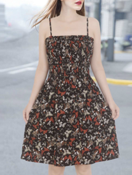 Misc LA Distributor Black Butterfly Garden Dress
