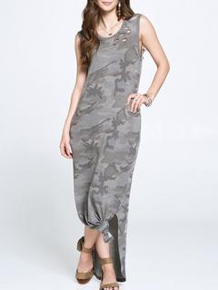 ODDI Camo Maxi Dress