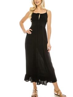 Misc LA Distributor Bohemian Day Dress in Black