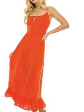Misc LA Distributor Bohemian Day Dress in Red