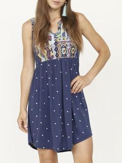 Misc LA Distributor Polka Dot Detail Dress