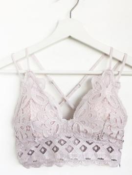 Pink Dainty Crochet Bralette