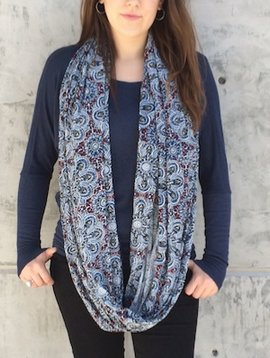 Gypsy Chic Thai Flower Tile Mid Scarf