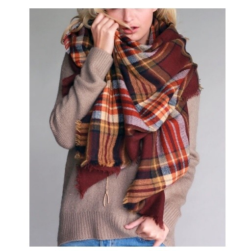 Urbanista Oversized Plaid Blanket Scarf