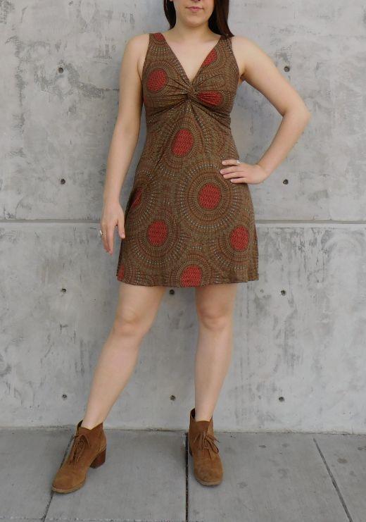 Gypsy Chic Strappy Twist Dress, Mandala